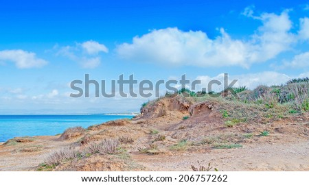 Platamona coastline on a clear, summer day