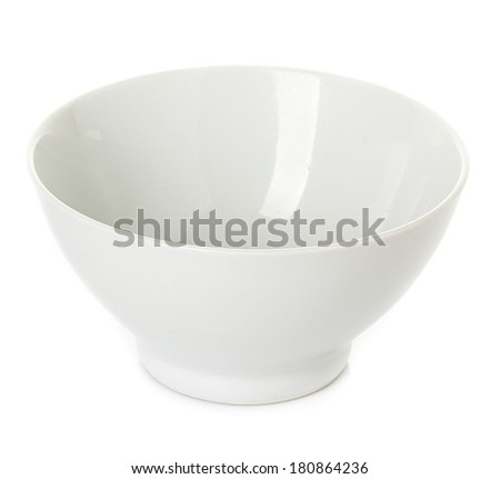 Plate, dish white isolated - stock photo
