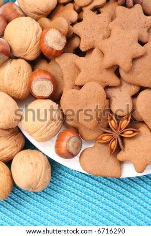 plate full of delicious gingerbreads