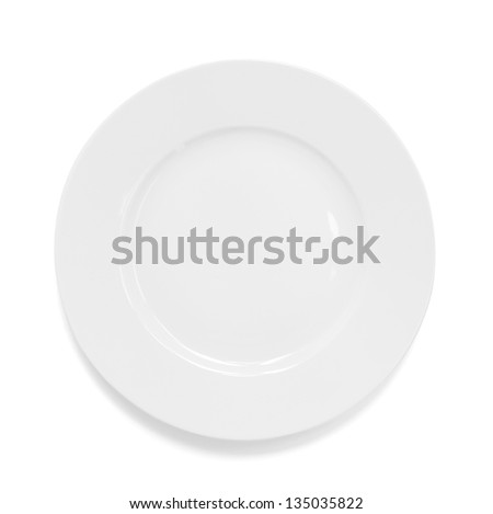 plate isolated - stock photo