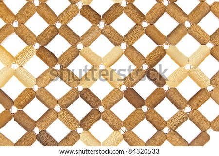 Plate mat, texture plastic wicker isolated on white - stock photo