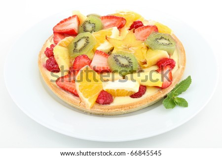plate of fruit tart