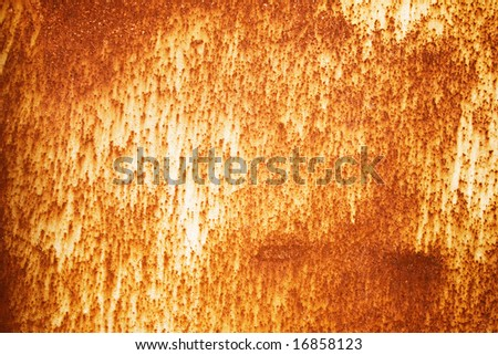 Plate of rusty metal on a background