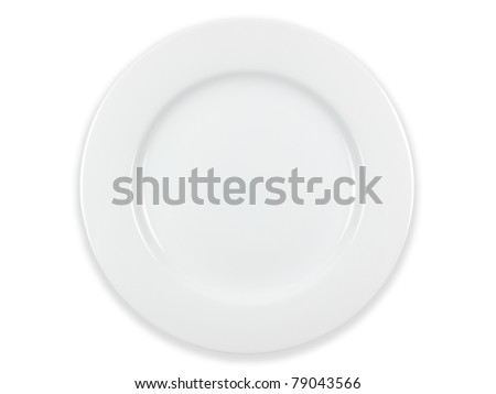 Plate on white - stock photo
