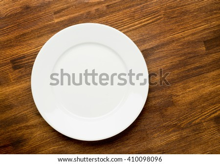 Plate on wooden  - stock photo