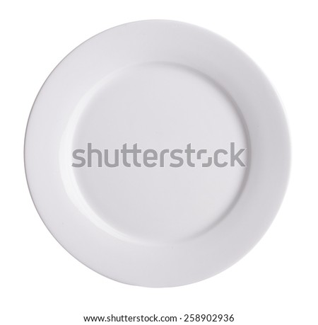 plate, plate on background. ceramic plate on a background. - stock photo