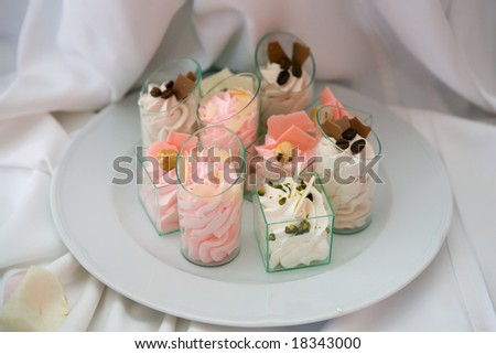 Plate with appetizers - stock photo