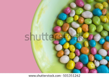 Plate with sweets, candy