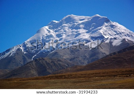 Plateau Snow Mountain. Taken in the way from Lhasa to Shigatse Tibet China.