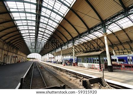 Platform at a train station. - stock photo