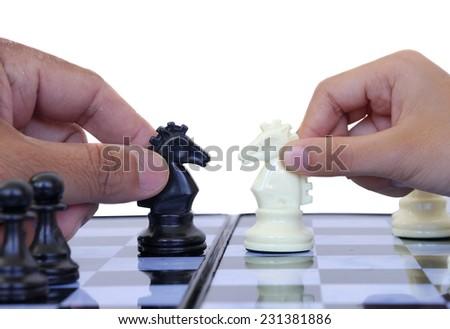 Play chess - stock photo