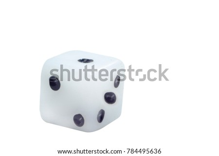 play dice under the white background