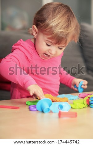 Play dough fun - stock photo