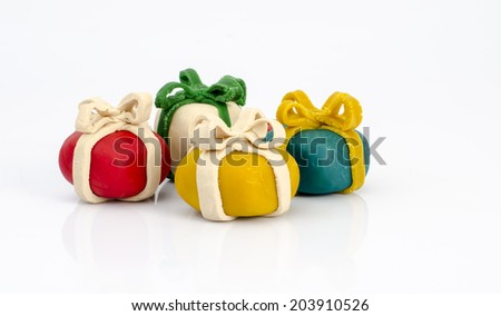 play dough white background - stock photo