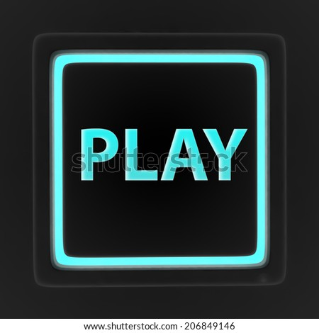 play square icon on white background