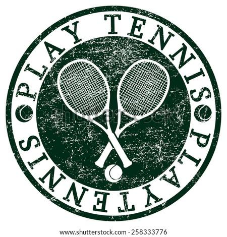 Play Tennis - stock photo