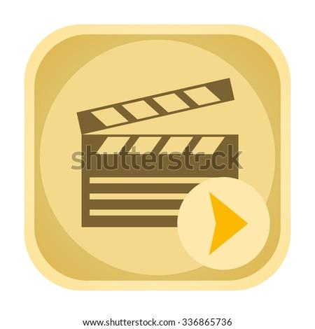 Play video icon - stock photo