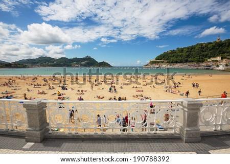 Playa De La Concha - San Sebastian Beach - stock photo