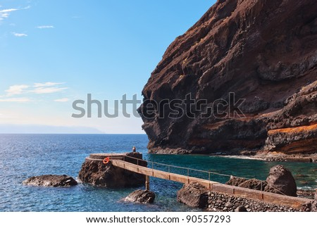 Playa de Masca, at the end of the popular Gorge walk. Tenerife, in the Canary islands