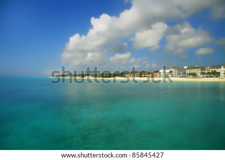 Playa del Carmen Caribbean - stock photo