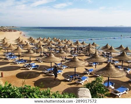 Playa Del Carmen, Mexico, Hotel. - stock photo