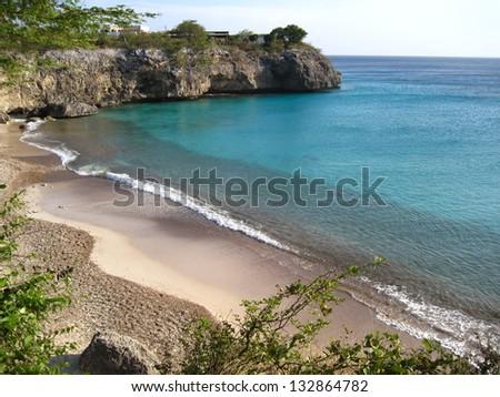 Playa Jeremi, Curacao, Caribbean Sea - stock photo