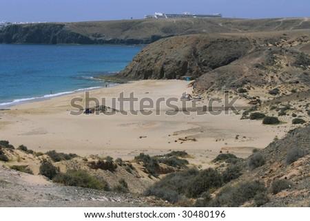 Playa Mujeres, Isla de Lanzarote - stock photo