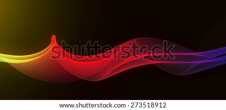 playful abstract curves - stock photo