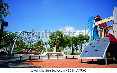 Playground at public park. - stock photo