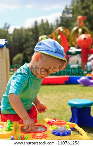 Playground baby - stock photo