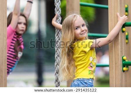 Playground, Child, Schoolyard. - stock photo