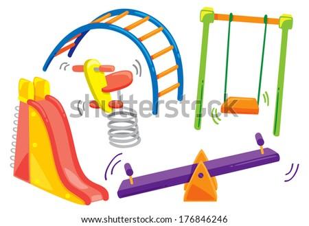 playground doodle - stock photo