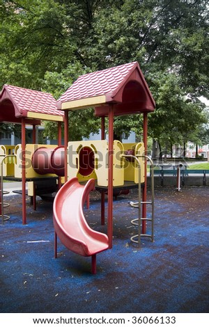 playground in early  automn time / parks and outdoors