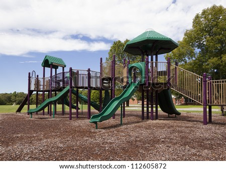 Playground in my home town in Connecticut. - stock photo