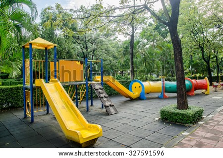 playground in park - stock photo