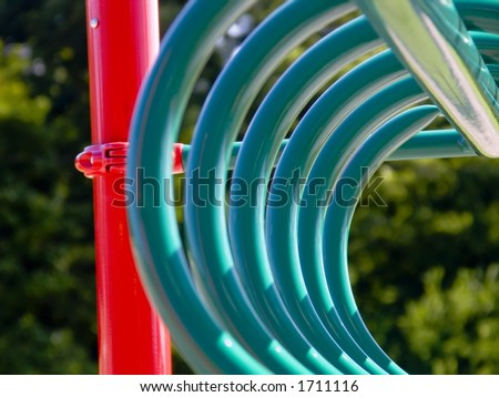 Playground rings - stock photo