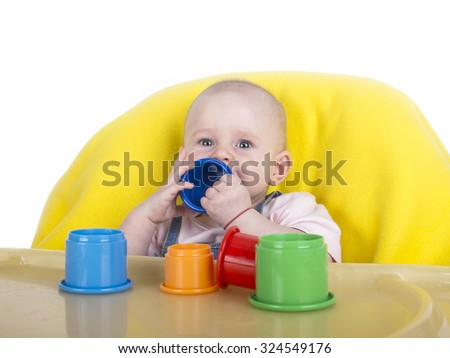 Playing baby - stock photo