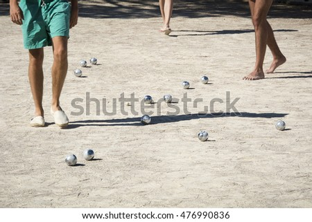 Playing boules in France
