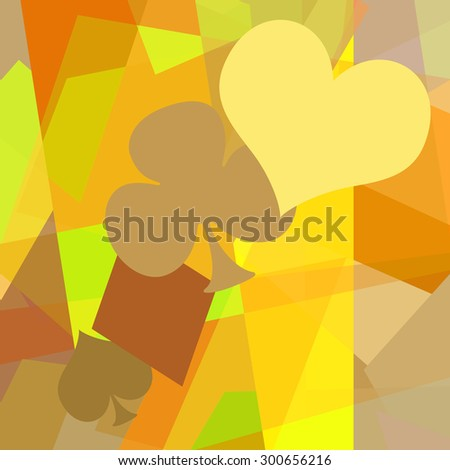 Playing card symbols abstract art casino background - stock photo