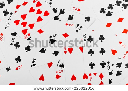 Playing cards - abstract gambling background - stock photo