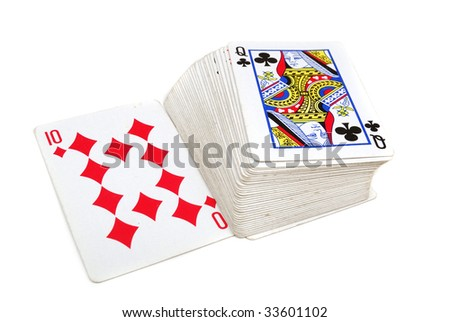 Playing cards for gamblings in club or a casino - stock photo