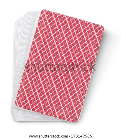 playing cards on white