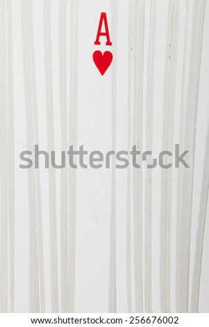 Playing cards on white background. Ace - stock photo