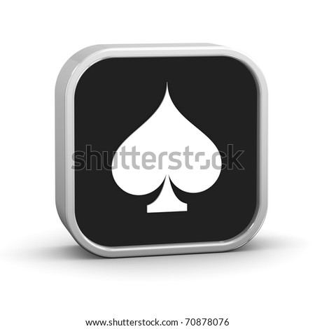 Playing cards spades on a white background. Part of a series. - stock photo