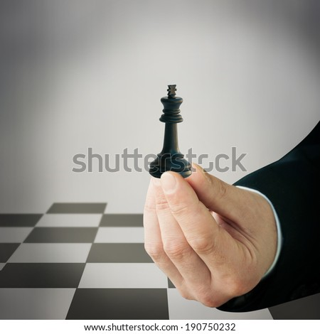 Playing chess game - stock photo