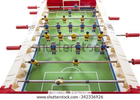 playing foosball  - stock photo