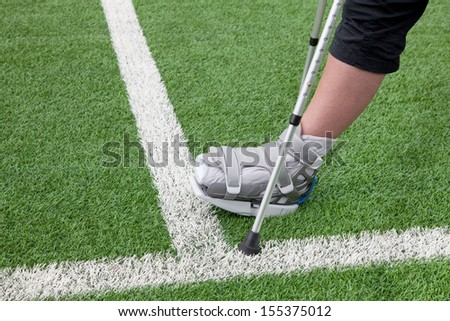 Playing football with broken leg