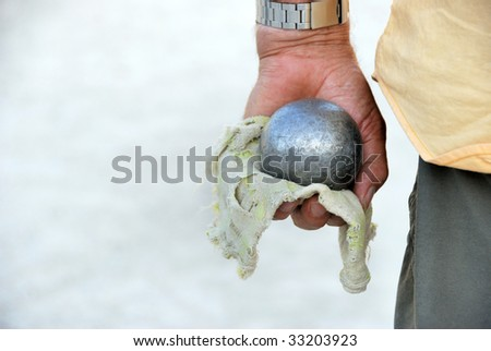 Playing jeu de boules in France,Europe - stock photo