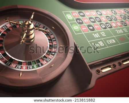 Playing roulette in the casino. Blur and glow effect added to the image.  - stock photo