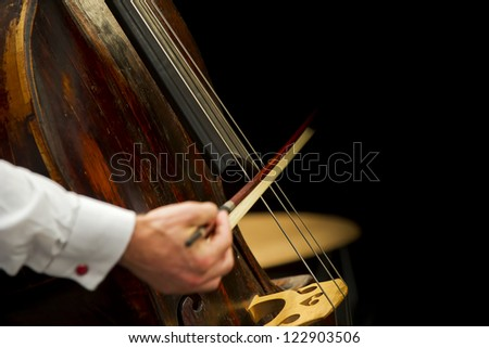 playing the cello - stock photo